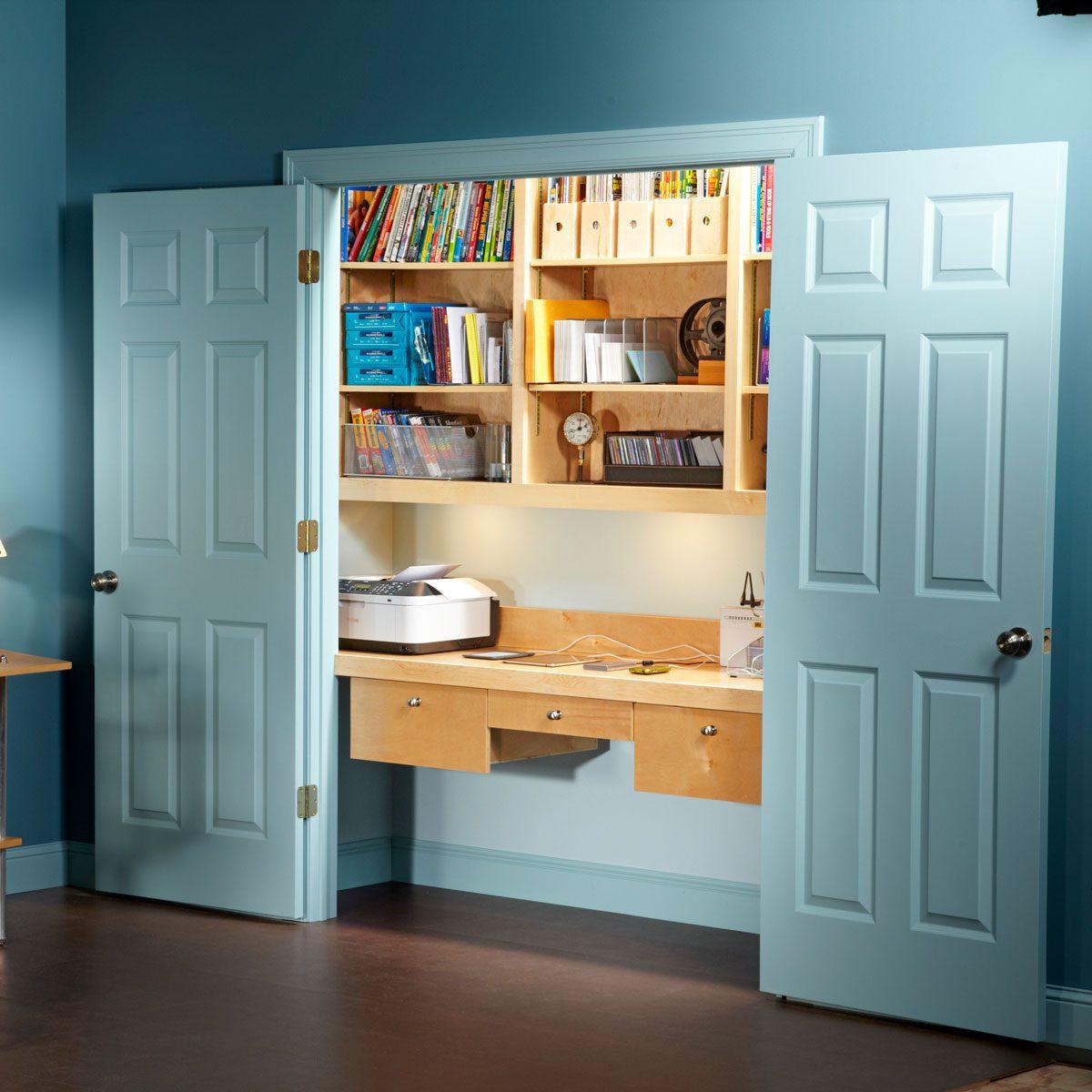 Finished closet office