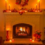 How to Decorate a Fireplace Mantel for Thanksgiving