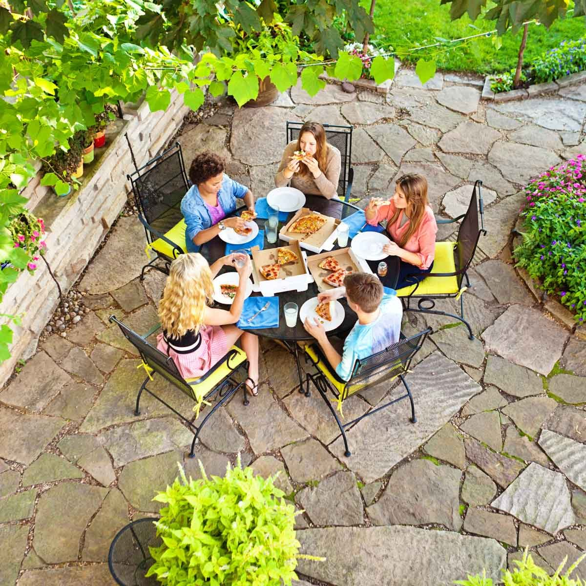 Patio dinner party