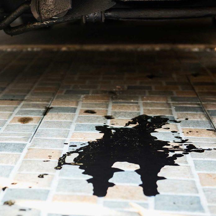 Leaking car fluid