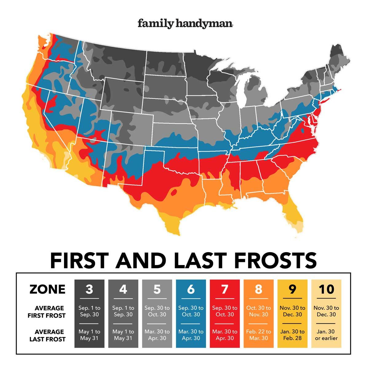Frost zone map