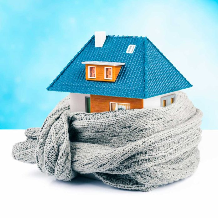 Digital house wrapped in a scarf