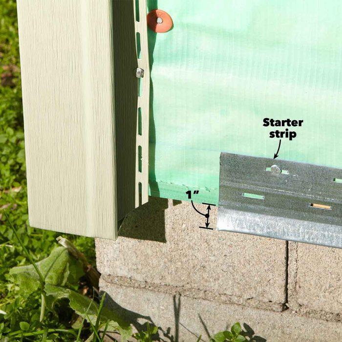 Use the Wider Starter Strip