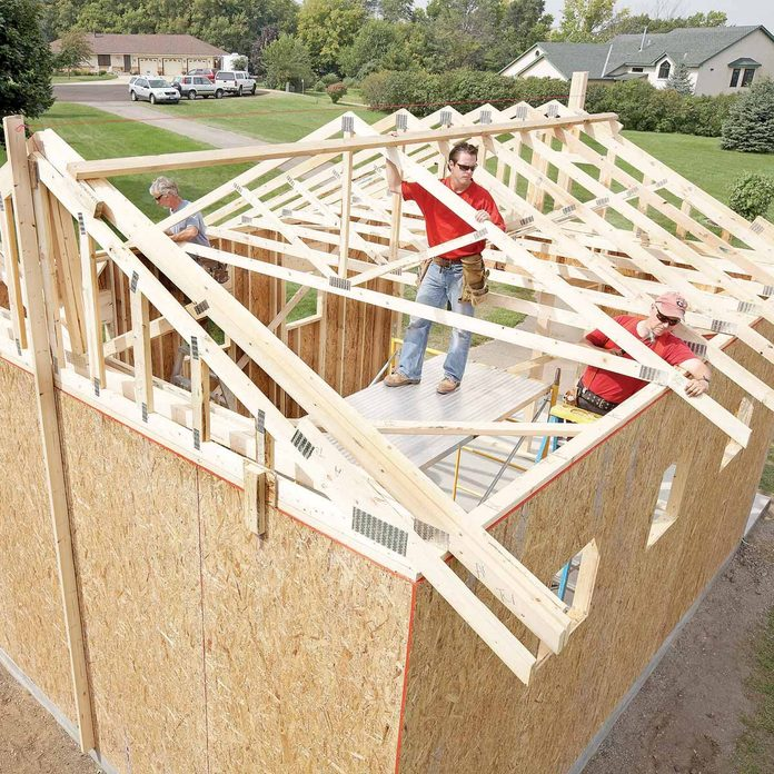 how to build shed trusses