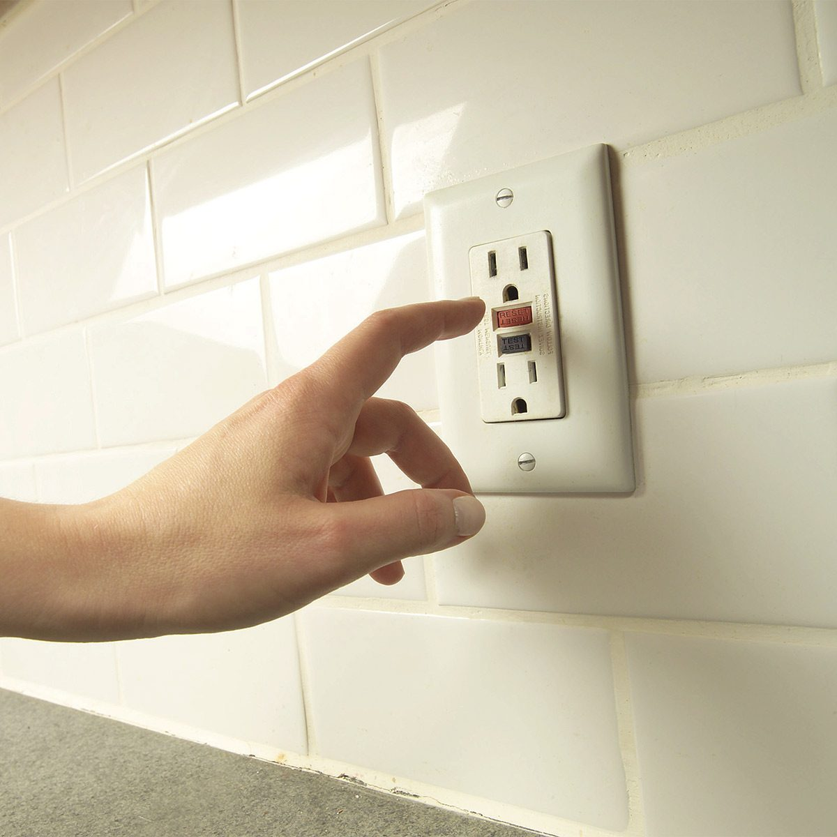 outlet in kitchen