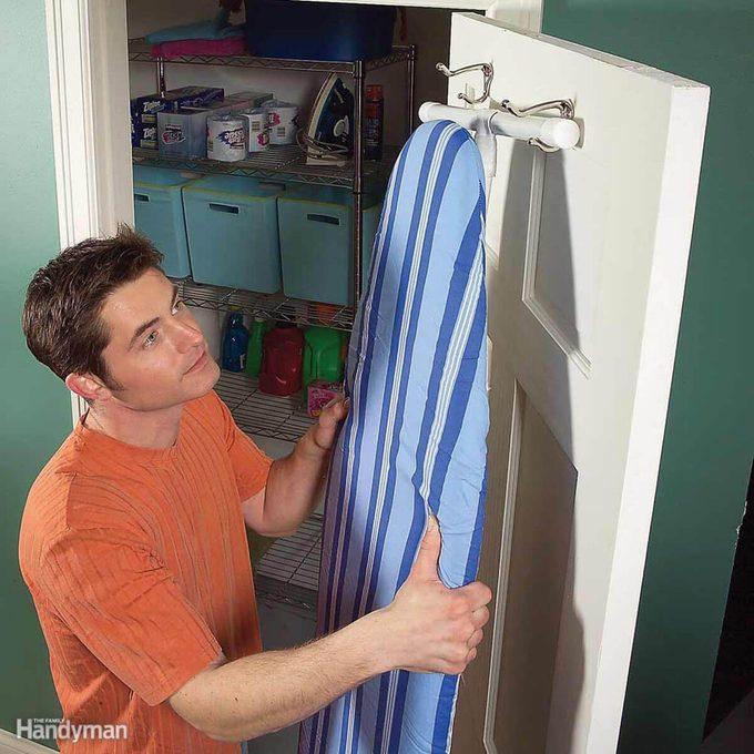 Behind the Door Storage: Ironing Board Storage
