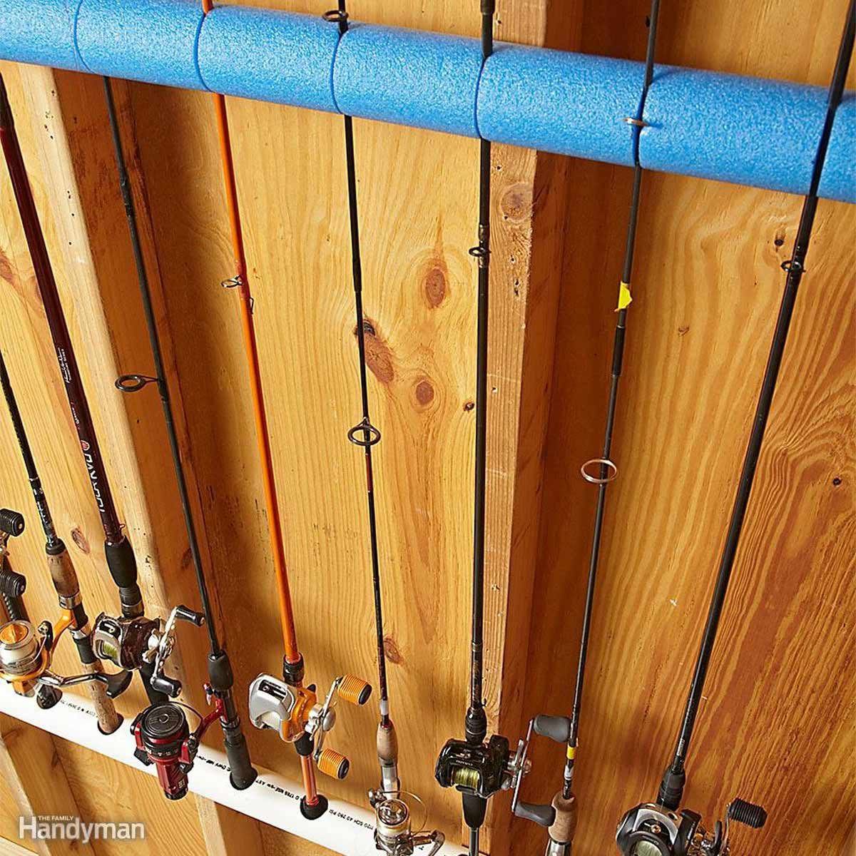 fishing rod pvc organizer