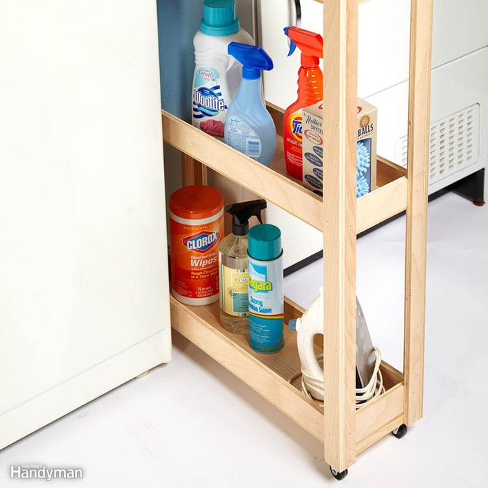 Skinny Laundry Room Cart