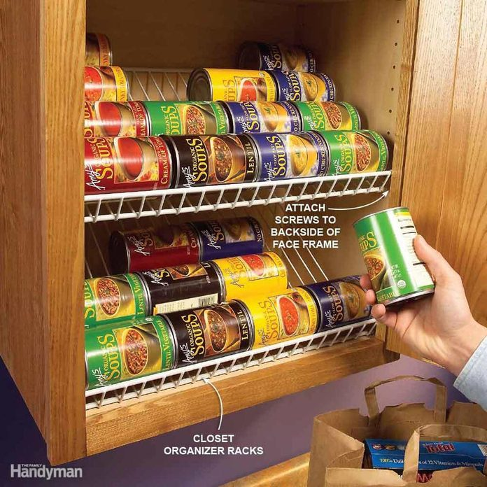 can rack storage kitchen cabinet