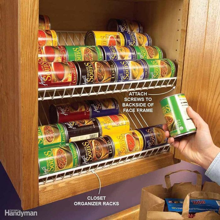 Kitchen Organization: Racks for Canned Goods