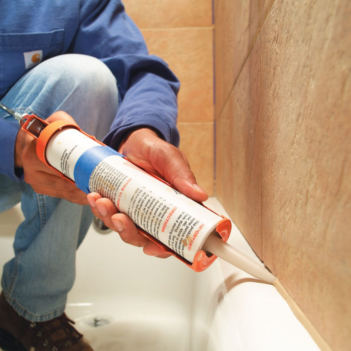 caulking-a-bathtub