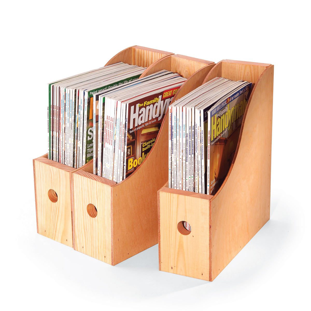 how to make wooden magazine storage containers