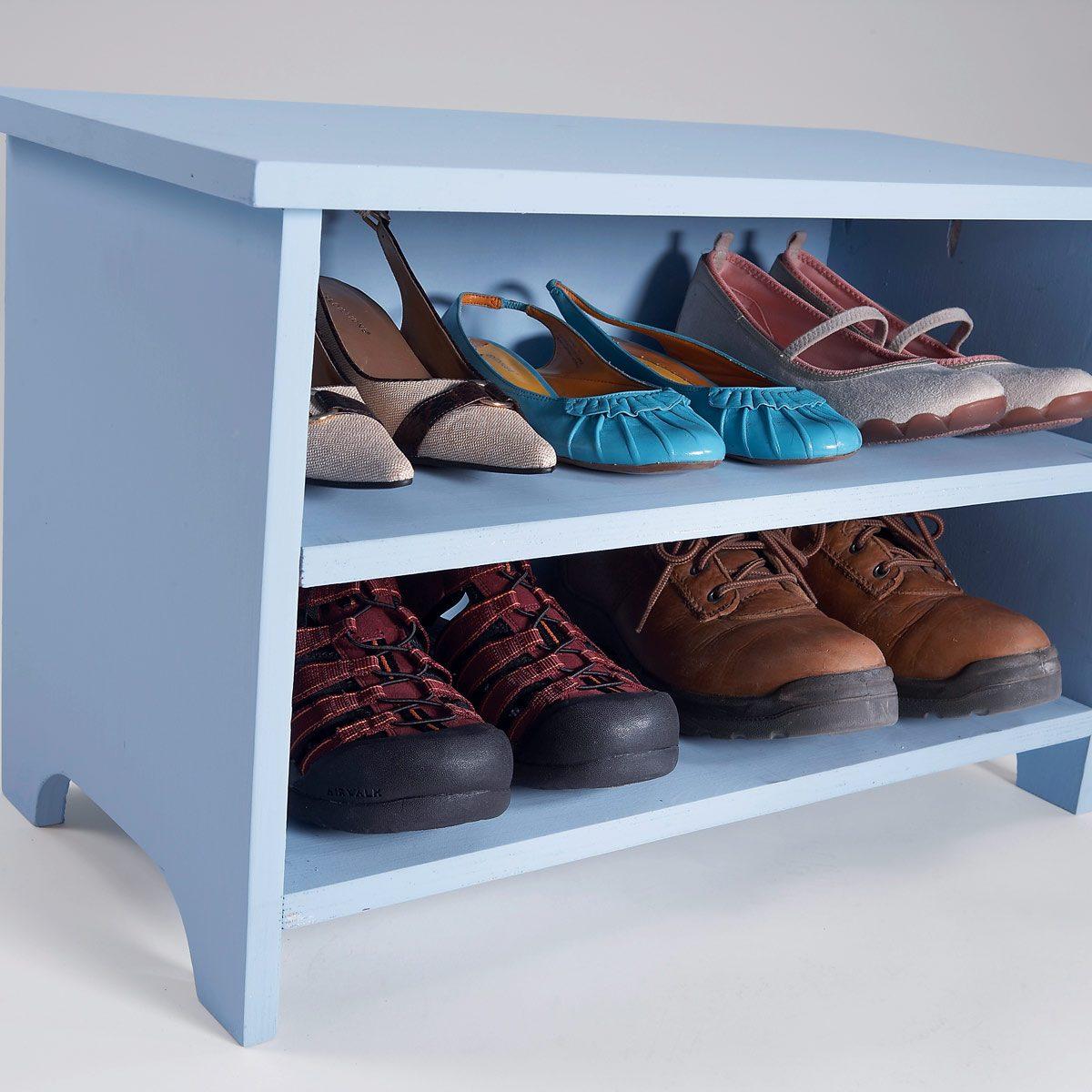 shoe organizer shoe bench