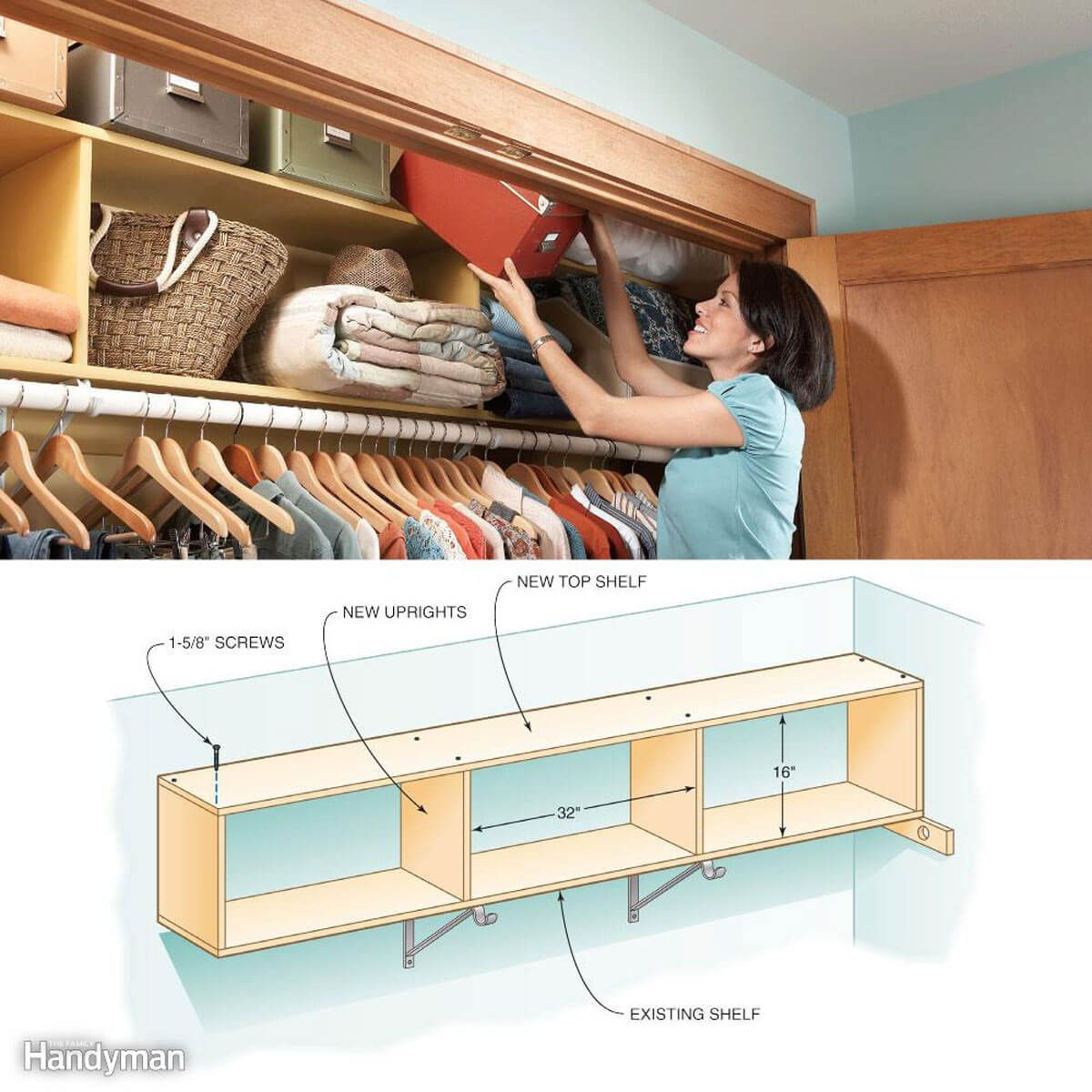 Storage for Small Spaces: Two-Story Closet Shelves