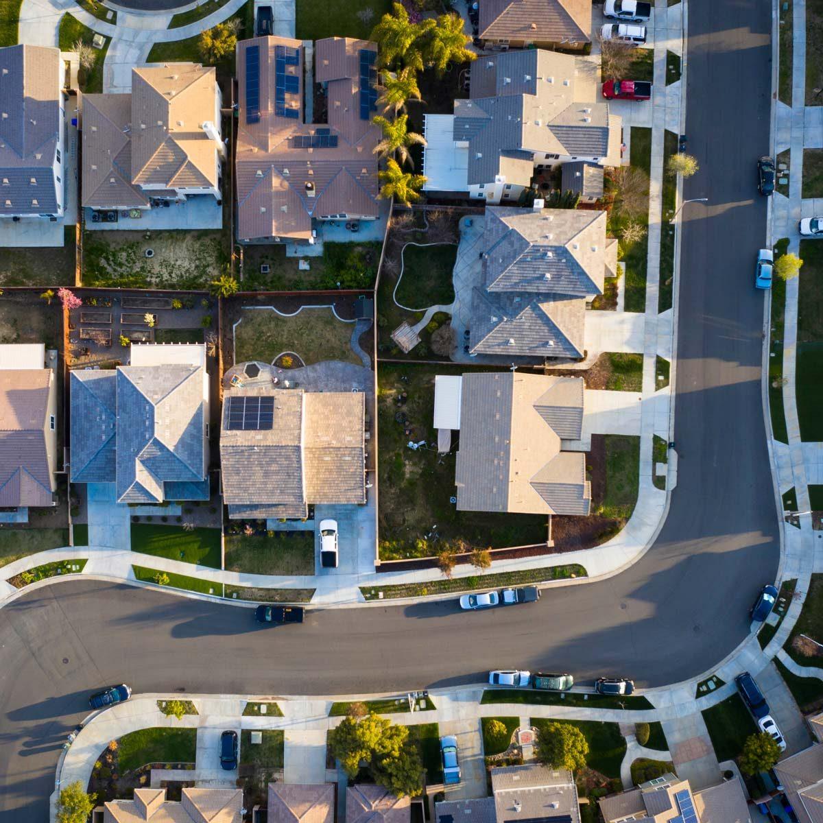 neighborhood Suburban Rooftops