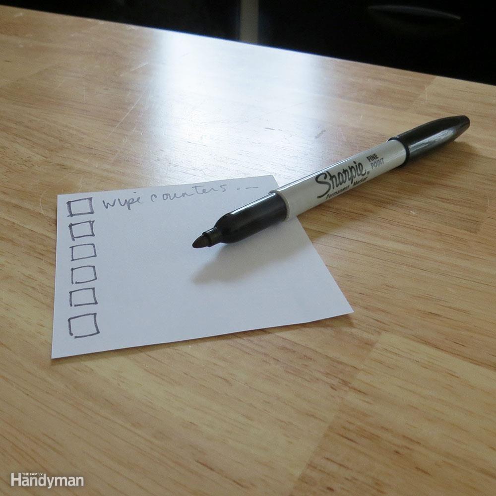 Make a Pre-Showing Checklist