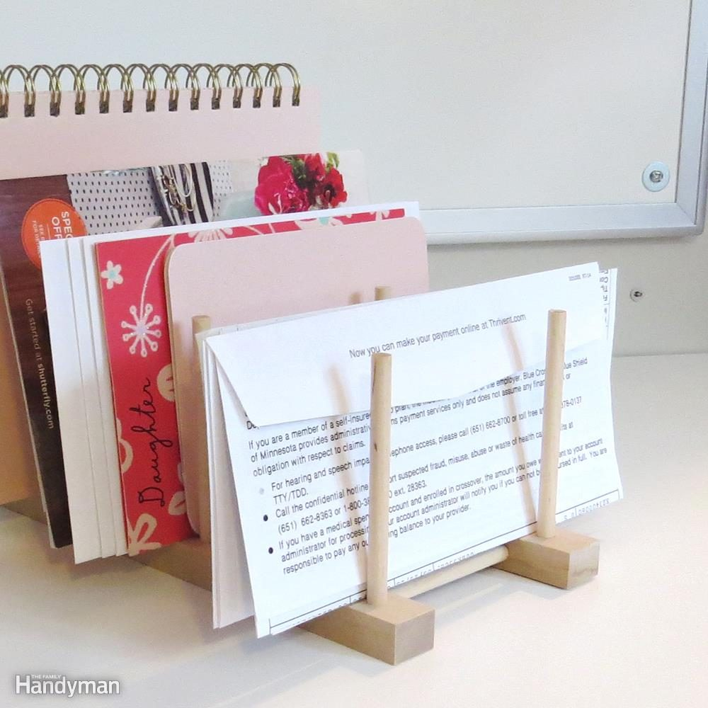 Organize Paperwork with a Pot Lid Holder