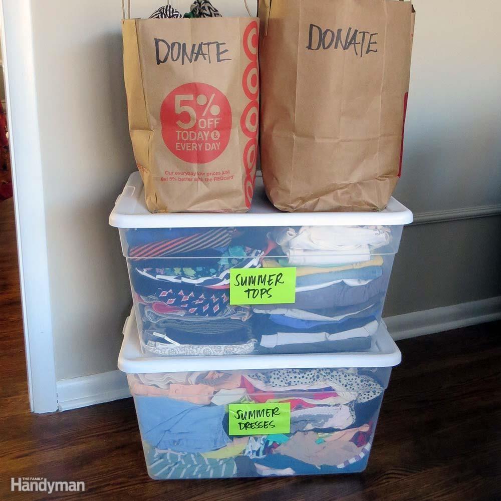 Closet Storage Ideas: Pare Down Your Possessions