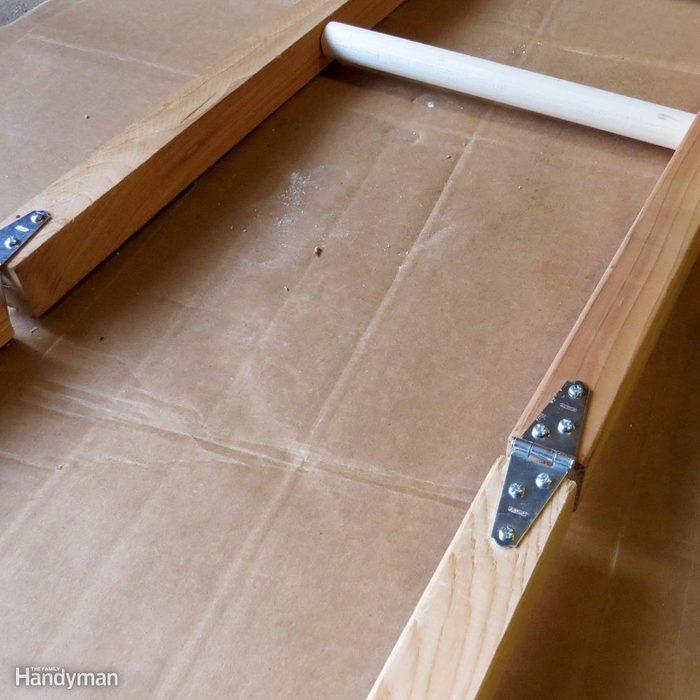 Build a Shoe Rack: Attach the Hinges