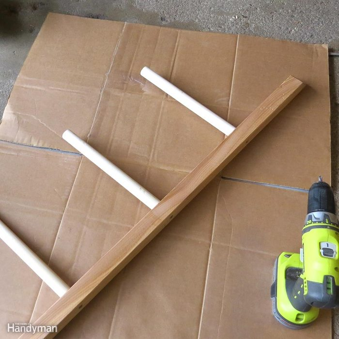 Build a Shoe Rack: Finish the Rungs