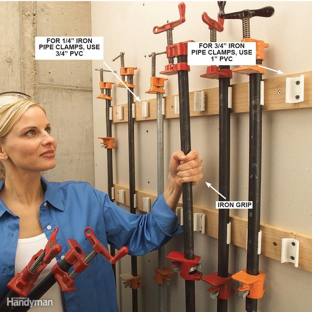 PVC Pipe Clamp Rack