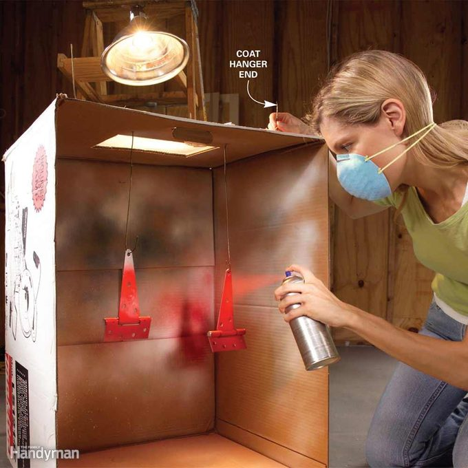 Cardboard Spray Booth