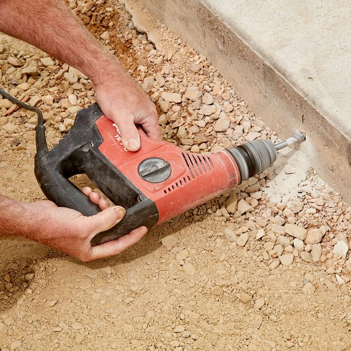 Tying two slabs together by drilling into the base | Construction Pro Tips