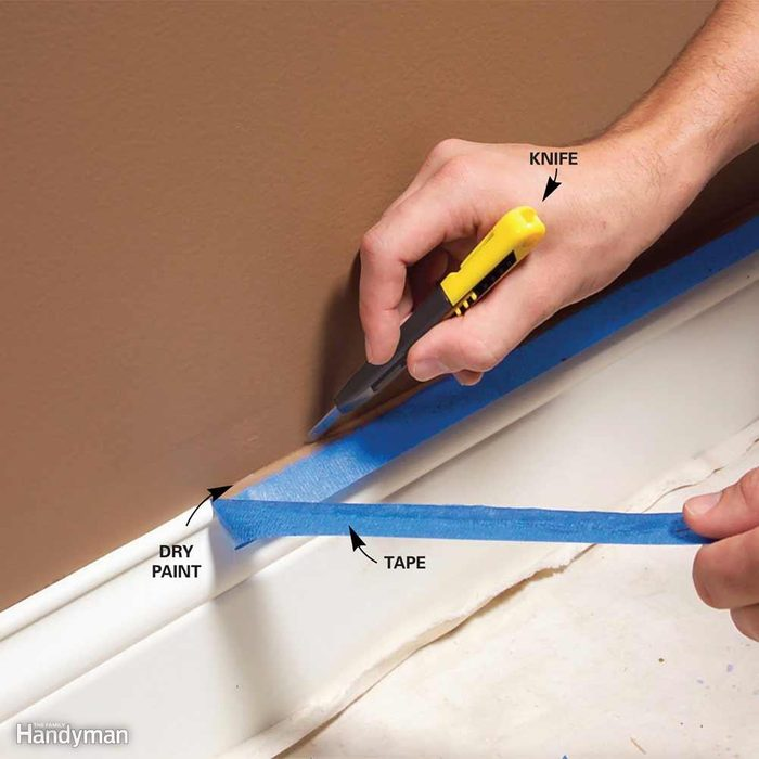 Let Paint Dry, Then Cut the Tape Loose for a Perfect Edge