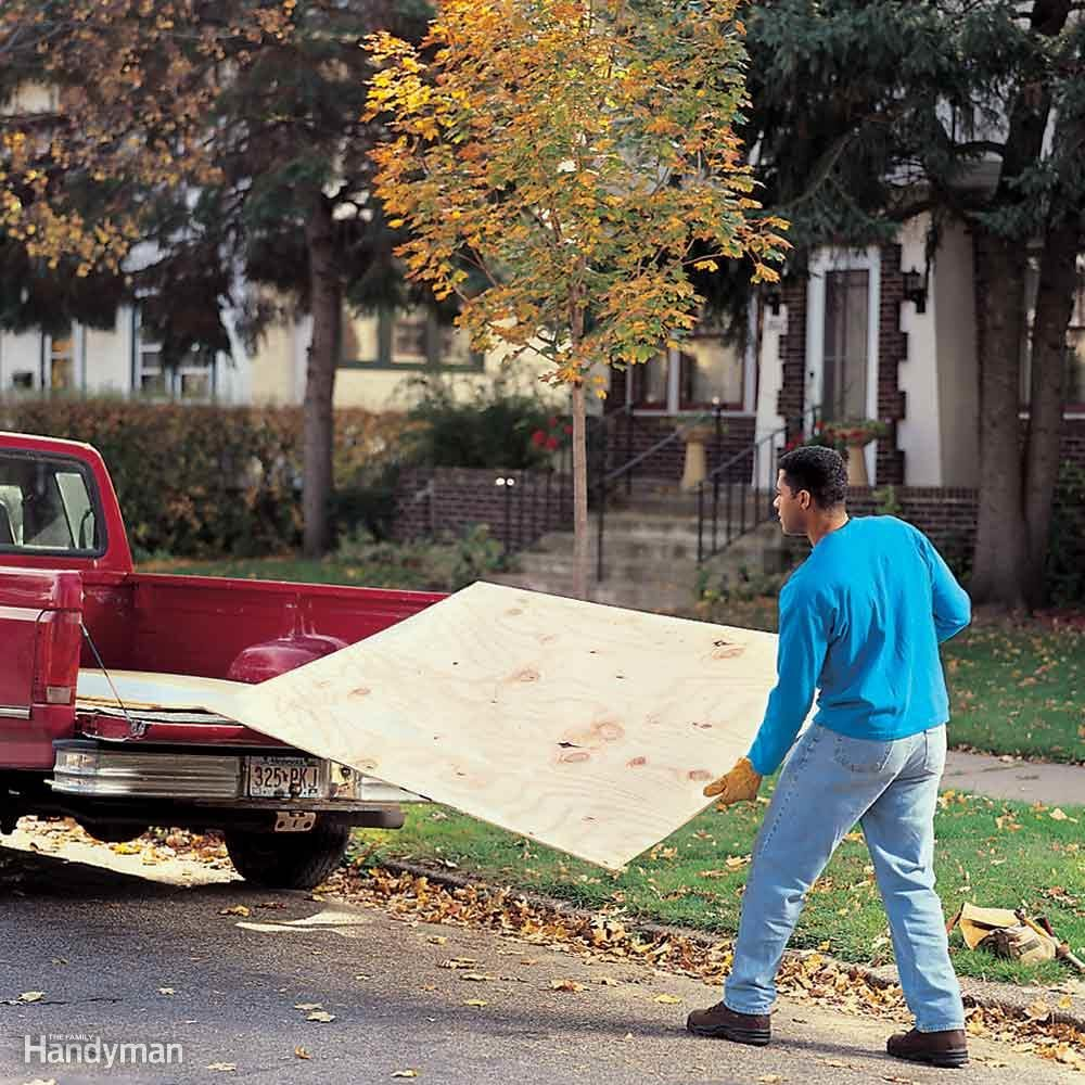 Use Balance and Grip to Haul Heavy Plywood