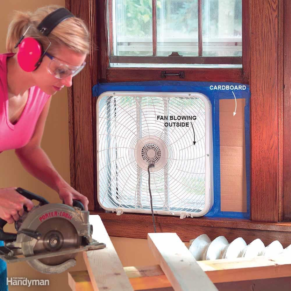 Drive Dust Outside With a Fan