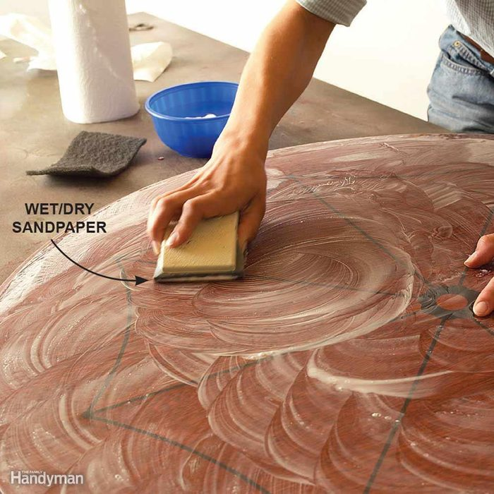 Sand Fine Surfaces With Wet/Dry Sandpaper