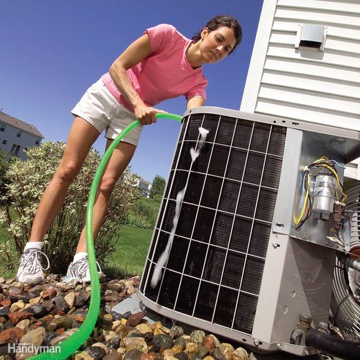 rinse off air conditioner