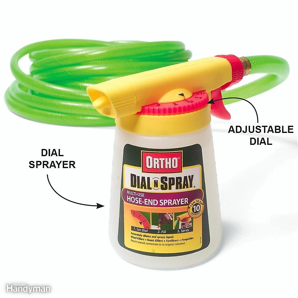 Use a Dial Sprayer When Weeds Are Out of Control