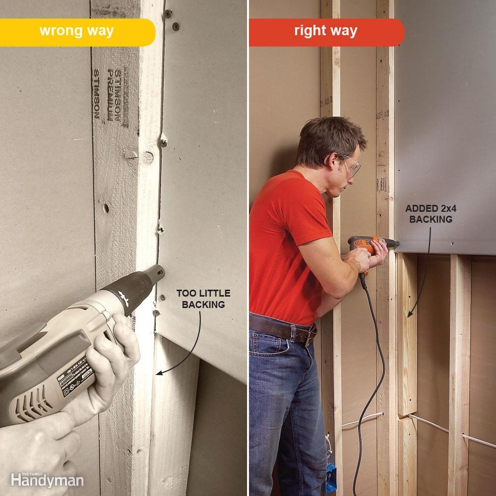 Hanging Drywall Vertically: Proper Edge Support
