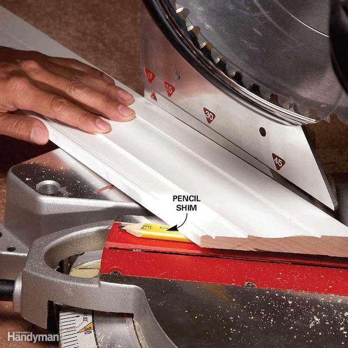 Miters: Use a Shim to Cut a Back Bevel