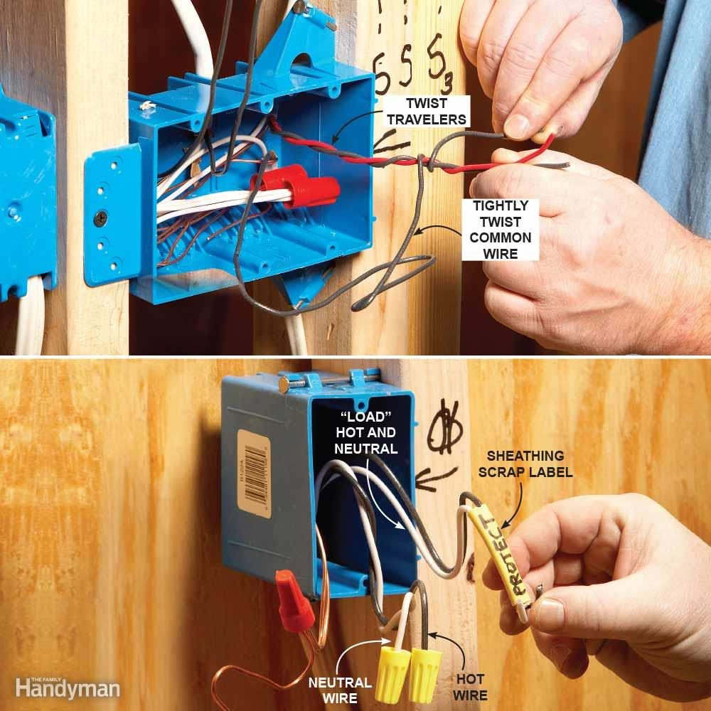 How to identify roughed-in electrical wires