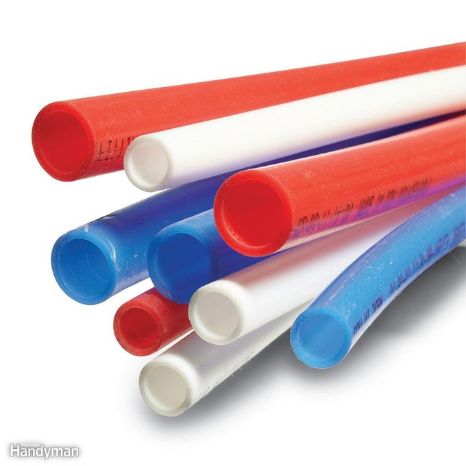 Red, white and blue PEX