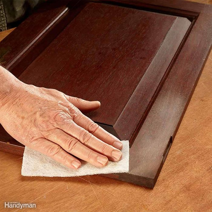 Refinish Kitchen Cabinets With Water-Based Poly