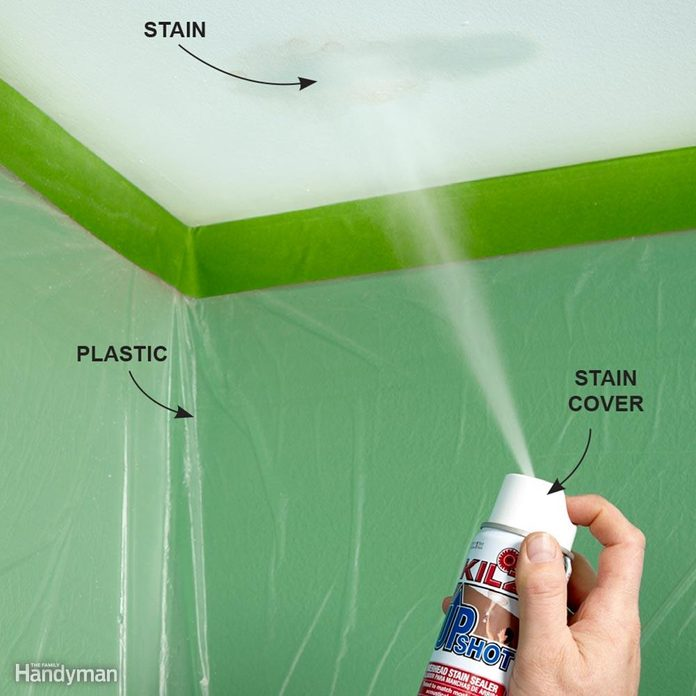How to Cover Up a Ceiling Stain
