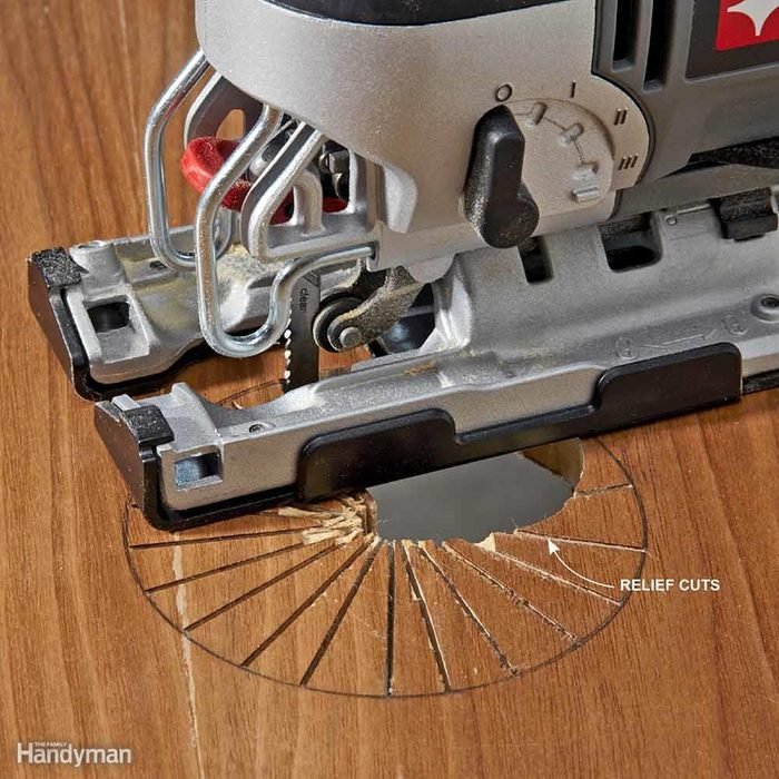 Make Relief Cuts for Sharp Turns