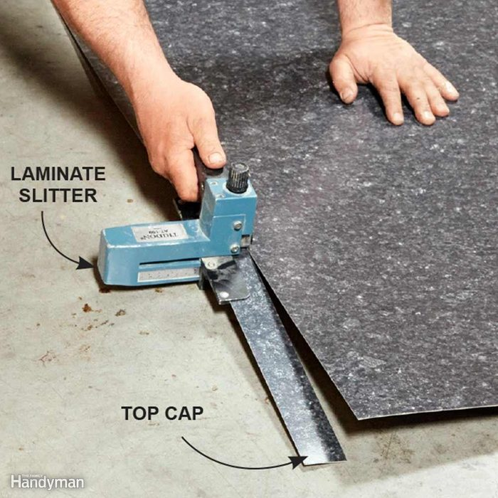 How to Install Laminate Countertop Sheet: Use a 'Slitter' for Narrow Strips
