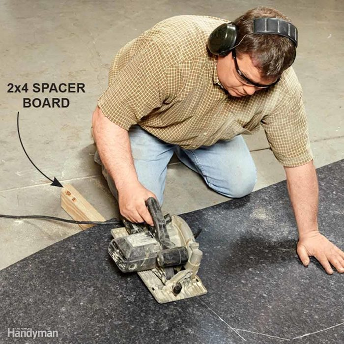 Rough-Cut the Top With a Circular Saw