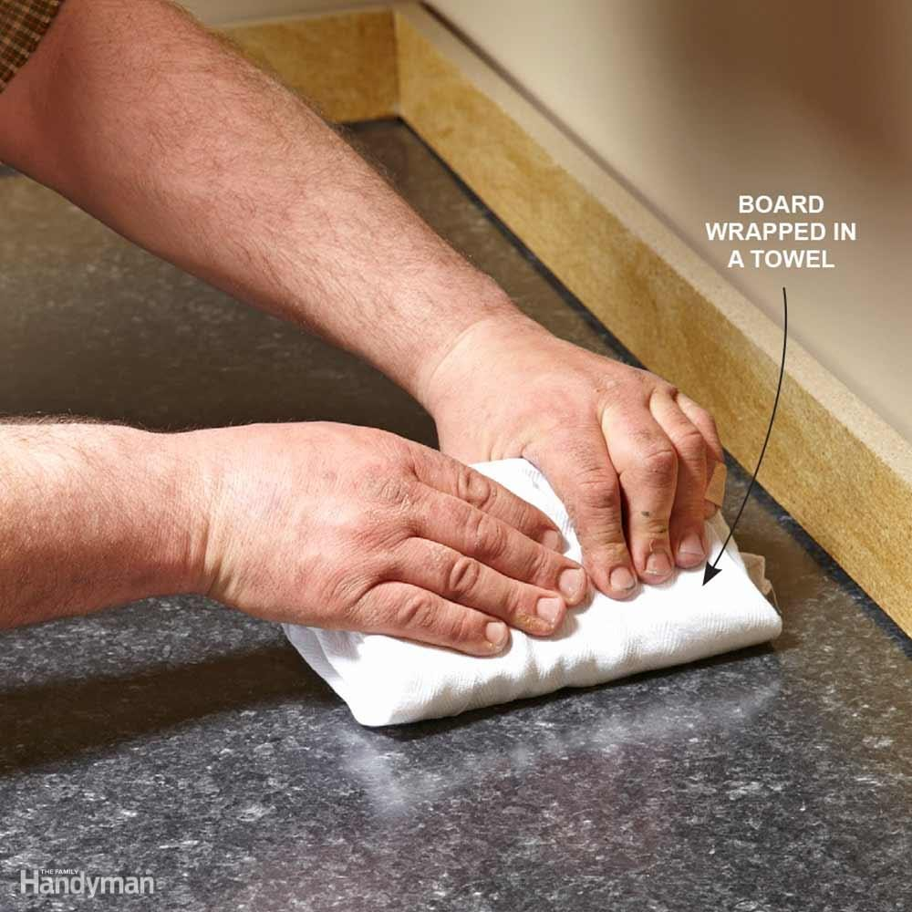 How to Install Laminate Countertop Sheets: Smooth Laminate With a Board