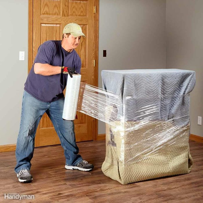 Protect Furniture With Blankets and Plastic