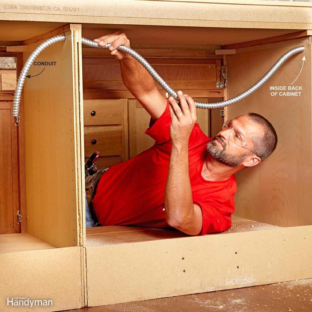 Install Conduit Inside Cabinets