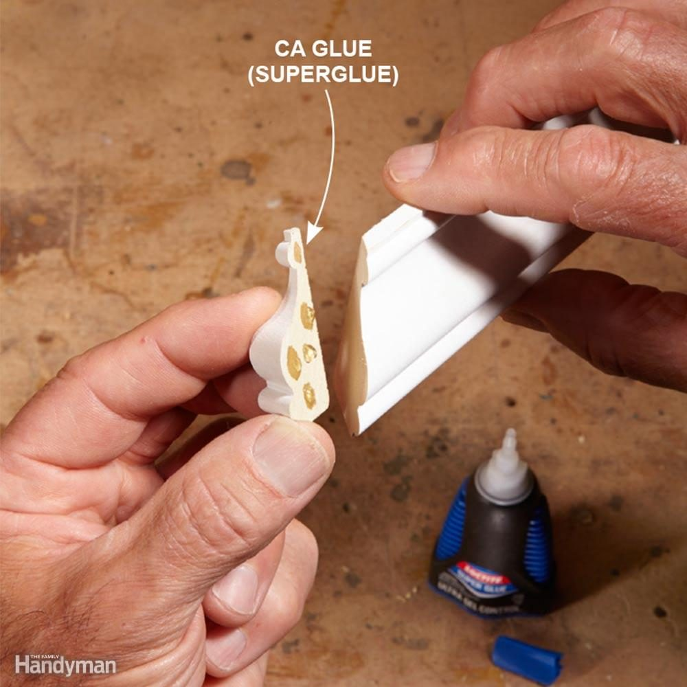 Attach Small Pieces With Superglue