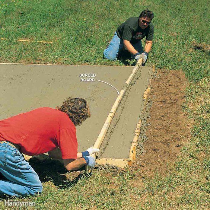shed foundation concrete slab