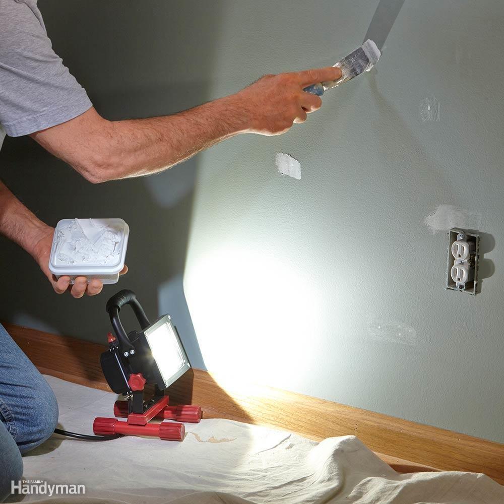 Use a Raking Light When Patching Walls