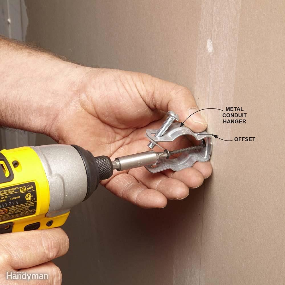 Use Metal Hangers with PVC Conduit