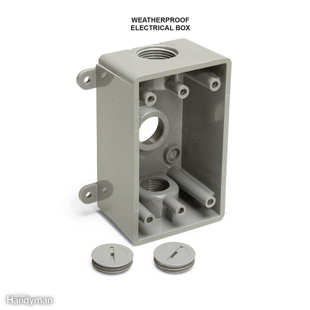Use Weatherproof Electrical Boxes Outdoors